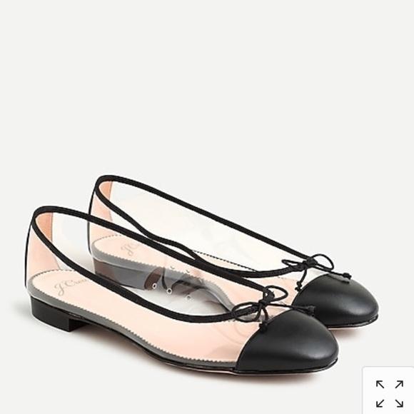 J. Crew Shoes - NWT J. Crew Women's Transparent Kiki Ballets Flats